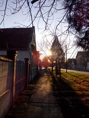 Sunset in Glozan (IvanFerko) Tags: street sunset vojvodina glozan hlozany