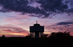 Drumchapel Sunset (Michelle O'Connell Photography) Tags: sunset summer sky skyline glasgow watertower drumchapel cleddans drumchapelglasgow drumchapellifesofar michelleoconnellphotography