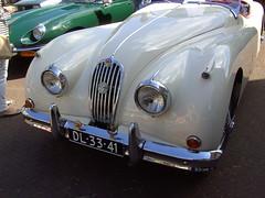 1955 Jaguar XK 140 (Davydutchy) Tags: show holland classic netherlands car june ride meeting convertible jaguar cabrio friesland roadster cabriolet 140 2014 xk joure fryslân drophead vroem dejouwer vroem2014