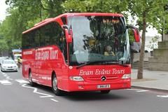 Evan Evans Tours / Redwing Coaches ( Pullmanor Ltd ) . 264 BN11UFV . Victoria Embankment , London . Monday 16th-June-2014 . (AndrewHA's) Tags: bus london coach sightseeing mercedesbenz tours embankment coaches redwing tourismo 264 evanevans pullmanor bn11ufv
