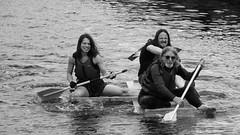 canal festival 2014 raft race 03 (byronv2) Tags: blackandwhite bw monochrome festival scotland boat canal blackwhite edinburgh sailing rafting rowing raft tollcross unioncanal 2014 edimbourg fountainbridge raftrace lochrinbasin canalfestival canalfestival2014