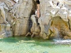Horse - Bernini's Fontana dei Quattro Fiumi or Fountain of the Four Rivers  a (litlesam1) Tags: italy rome soloromejuly2016 july2016 fountains