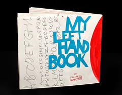 """My left hand book"" (biasetton) Tags: illustrazione illustration collage calligraphy calligrafia libro biasetton"