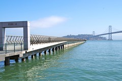 Pier 14 (with Oakland Bay Bridge) (frankbehrens) Tags: sanfrancisco california kalifornien oaklandbaybridge