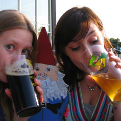 Beer Festival FTW! (evilibby) Tags: girls beer girl olaf gnome drink drinking ale cider holly human libby 365 pint humans pints 365days 3654 365days4 gnomeolaf