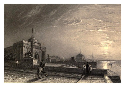011-Ministerio de Marina desde el muelle del palacio-A journey to St. Petersburg and Moscow 1836- Ritchie Leitch