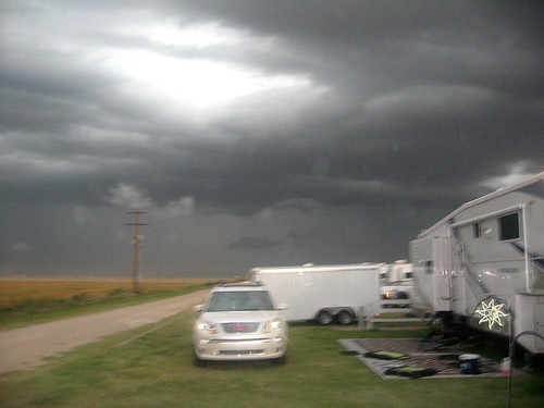 Another campground view of the low lying clouds.