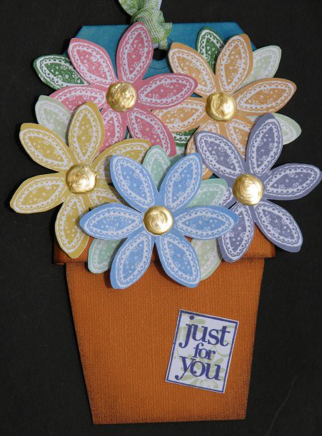 Just For You Flower Pot Tag 2