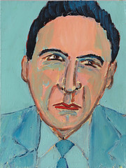 # 1986 Tien portretten. Nummer twee. Blauw (h e r m a n) Tags: blue portrait man male art painting blauw kunst schilderij herman portret tenportraits tienportretten