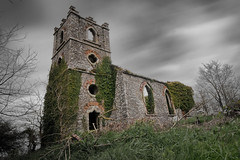 Church Of Ireland ruins at Ferrypoint,  near Youghal (Des Daly) Tags: ireland abandoned church ruins cork waterford youghal longexposeure
