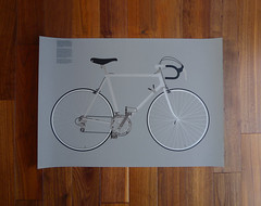 Otl Aicher Olympic Congress Baden-Baden 1981 (Adapt or Die) Tags: bicycle print poster screen otl aicher