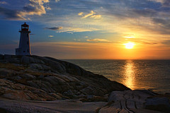 Peggy's Sunset (sminky_pinky100 (In and Out)) Tags: travel sea canada tourism water landscape golden rocks novascotia scenic landmark shimmer costal theperfectpicture peggyscovelighthouse omot cans2s perfectioninpictures exhibitionoftalent perfectioninpicturesuprememimages