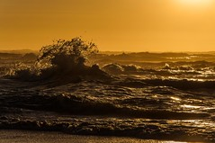 Seascape (Johan Jooste Snr) Tags: ocean sunset sea buildings lens town nikon waves seascapes nikkor namibia swakopmund d90 18105mm
