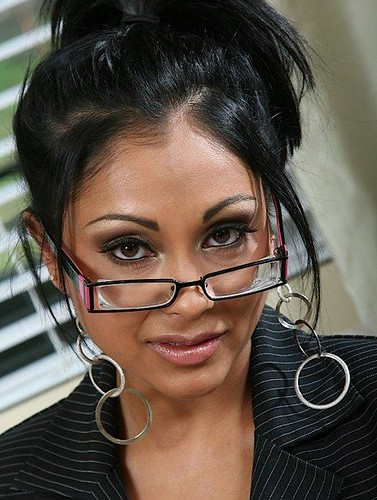 Priyara Anjalisipe Hot Girl With Glasses Looking Over Her Thick Lenses