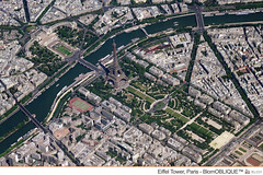 Eiffel Tower, Paris - BlomOBLIQUE (Blom Group) Tags: paris eiffeltower blom aerialimagery blomoblique