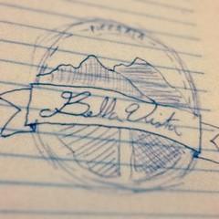 #draft #logo Pizzaria Bella Vista (fffdesign) Tags: square nashville squareformat iphoneography instagramapp uploaded:by=instagram