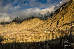 Hunza Valley (M.Omair) Tags: winter pakistan light sunset moon snow mountains cold tree ice nature beautiful beauty night clouds evening nikon photographer village natural valley moonlight peaks upnorth omair hunza climate vr 18105 virgomair d7000 imomair
