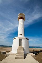 lighthouse (Oberson Robin) Tags: blue sea sky sun white beach robin strand lens spain meer angle wide himmel blau sonne weiss 54 spanien leuchtturm weit linse weitwinkel winke oberson tamronspaf1024mmf3 5dill pp28cd