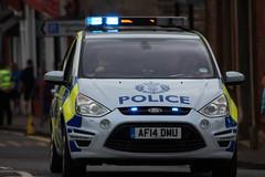 Lead police patrol (barronr) Tags: people scotland volunteers police runners commonwealthgames westlothian queensbatonrelay bathgate