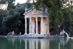 Villa Borghese... A detail in the pond (lucadimarzo) Tags: summer italy rome 50mm building tree green water lake pond 100d canon