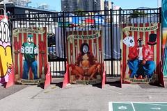 Coney Island - Coney Art Walls: Hennypalooza (wallyg) Tags: biggiethemagician brooklyn carney coneyartwalls coneyisland jaythefirebreather kimtheswordswallower kingscounty newyork newyorkcity ny nyc streetart