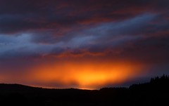Sunset Rain..x (lisa@lethen) Tags: weather evening sunset rain orange nature cloud silhouette