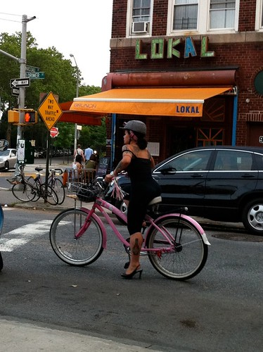 Biking in heels