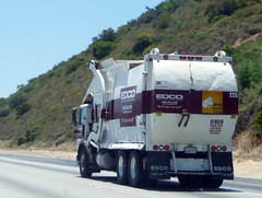 Edco Garbage Truck (Photo Nut 2011) Tags: california trash truck garbage junk freeway waste refuse sanitation 225 garbagetruck trashtruck wastedisposal edco