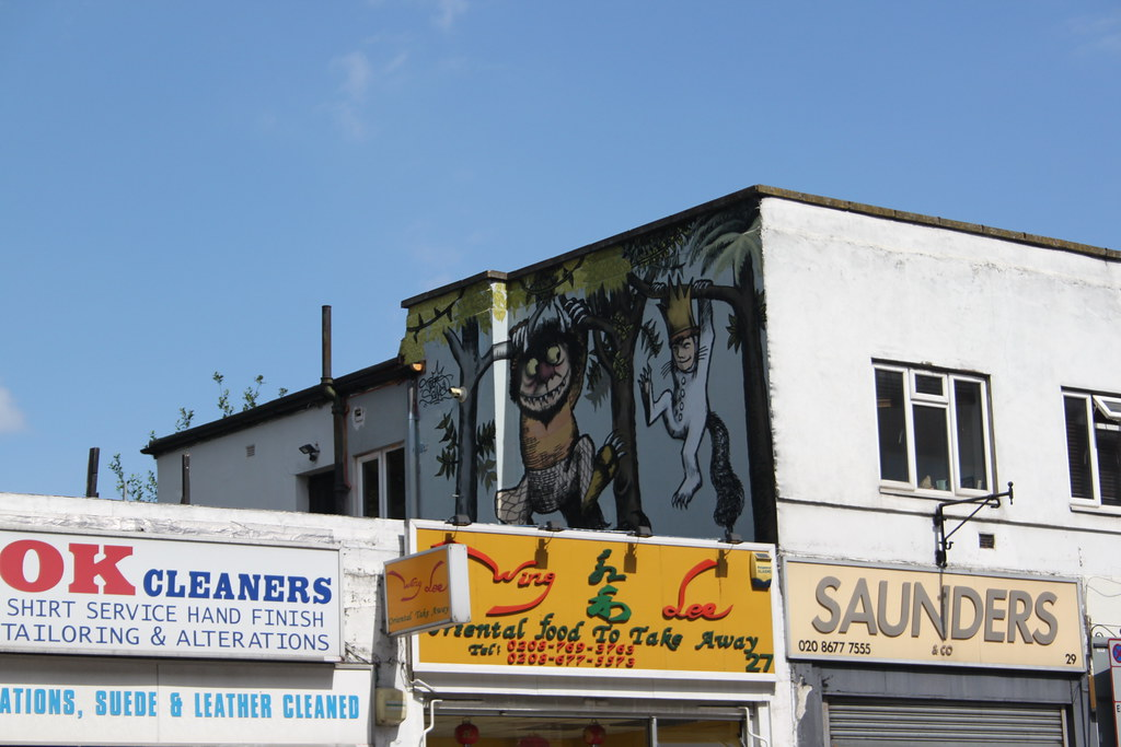 Where the Wild Things Are Mural mural Streatham London Mural