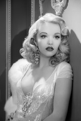 Inspired by George Hurrell 3 (LifebyLinda) Tags: lighting blackandwhite white black classic glamour hollywood hurrell