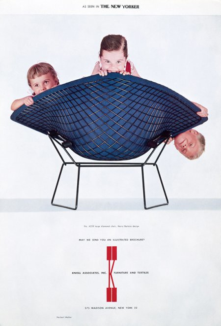 Vintage Bertoia Diamond Chair Ad