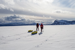 Skiing into Sarek (Greg Annandale) Tags: snow mountains canon skiing sweden arctic crosscountry mountaineering backcountry wilderness 1740 pulk skitouring skitour sarek pulka kungsleden kingstrail canon5dmkii canon5dmk2