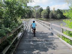 The wooden bridge across part of the Lake at Yarralumla (spelio) Tags: lake bike ride favorites australia favourites april canberra favs griffin act burley 2012 australiancapitalterritory