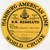 SS Resolute / luggage label (Oldimages) Tags: voyage label tag transport couleur bagage tourisme hapag croisiere paquebot worldcruise hamburgamericanline hamburgamerikalinie etiquetteabagage resolutess stateroombaggage