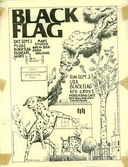 Black Flag flyer (alice_bag) Tags: punk blackflag raymondpettibon