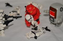 Not a Good Time (WindUpDucks) Tags: boy trooper starwars lego stormtroopers hell astronaut domo hellboy qee