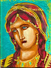 byzantine princess red (A.Anninos) Tags: portrait art girl lady greek gold icons princess cyprus style icon queen canvas byzantine acrylics stretced
