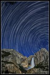 Upper Yosemite Falls Moonbow and Startrails (maguire33@verizon.net) Tags: yosemitefalls waterfall yosemite yosemitenationalpark startrails moonbow canon24105f4l lunarrainbow lunarbow canoneos5dmarkiii canon5dmarkiii starstax