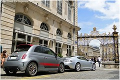Fiat 500 Abarth& Aston Martin DBS (Driss Romain Dinar (Grand-Est-Supercars.com)) Tags: black france cars sport by race speed gold mercedes martin fiat lotus elise or plymouth continental ferrari voiture m cayenne international turbo nancy maroc bmw 500 gt audi bison edition wald lorraine ff luxe bentley aston magnum evo tycoon amg prowler supercars dbs abarth hamann gtc techart 456gt x6 panamera rs5 c63