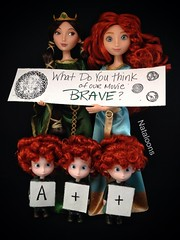 Brave is Beautiful! (Nataloons) Tags: red classic boys hair movie scotland store doll devils like scottish disney queen more hubert merida bow pixar brave wee arrow celtic harris smirk triplets hamish archer kilts triplet elinor explored