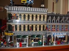 All Lego Modular buildings, some Modified. (LegoSjaak) Tags: street pet cinema building green shop corner fire restaurant town hall cafe lego market palace modular grocer parisian brigade buil