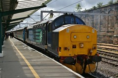 37425  Sir Robert McAlpine  /  Concrete Bob (highlandreiver) Tags: robert station train concrete diesel citadel bob rail class special cumbria 37 sir carlisle services direct charter drs mcalpine 37425