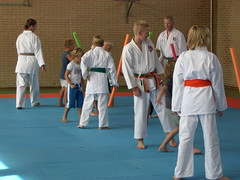 "zomerspelen 2013 karate clinic • <a style=""font-size:0.8em;"" href=""http://www.flickr.com/photos/125345099@N08/14427406353/"" target=""_blank"">View on Flickr</a>"