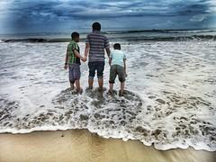 Ocean- for the first time! (Rubaiyet) Tags: ocean water blue kids beach bangladesh coxs bazar