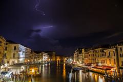 thunderstorm in Venezia ((:Andrzej:)) Tags: venezia wenedig wenecja canalgrande grandcanal thunder storm night