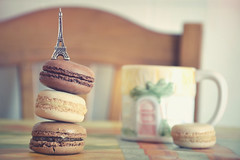 A little bit of Paris for breakfast (Joeyful~) Tags: paris france cup breakfast torre eiffel francia dolci parigi colazione tazza macarons