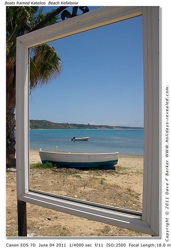 Boats Framed katelios Beach Kefalonia