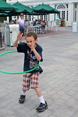 Aidan is Hula Hooping and Clapping!