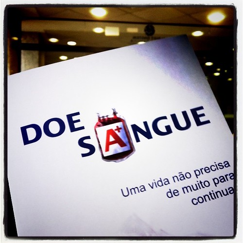 Já na triagem do Banco de Sangue #doesangue
