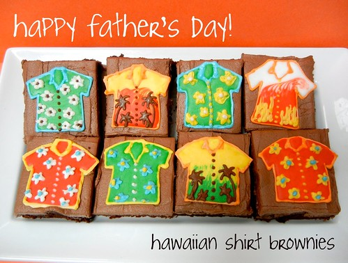 hawaiian shirt brownies